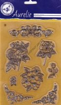 Botanical Garden 2 Roses & Flowers 8 Clear Unmounted Rubber Stamp Set